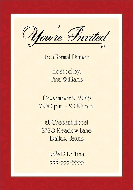 formal dinner invitation templates