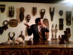 Evan at Gene Autry's desk!