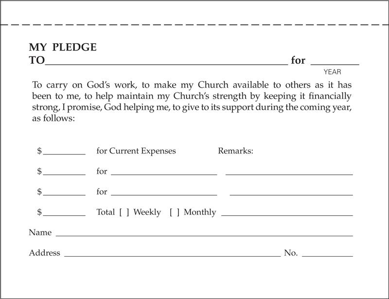 Church pledge form template costumepartyrun church donation pledge form template selimtd altavistaventures Choice Image