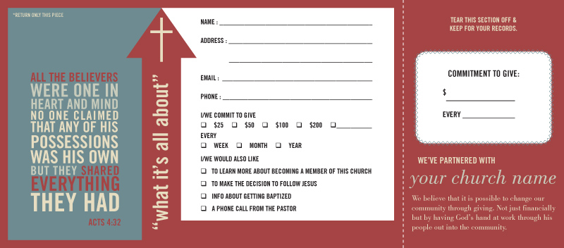 Pledge and Welcome Cards - One Write Company