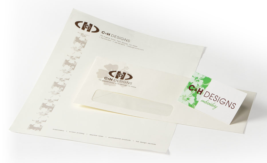 CH Design Branding Package - OnIt CreativeOnIt Creative - letterhead and envelope design