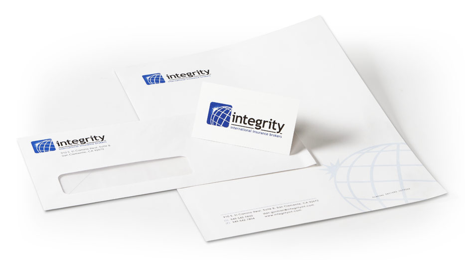 Integrity Branding Package - OnIt CreativeOnIt Creative - letterhead and envelope design