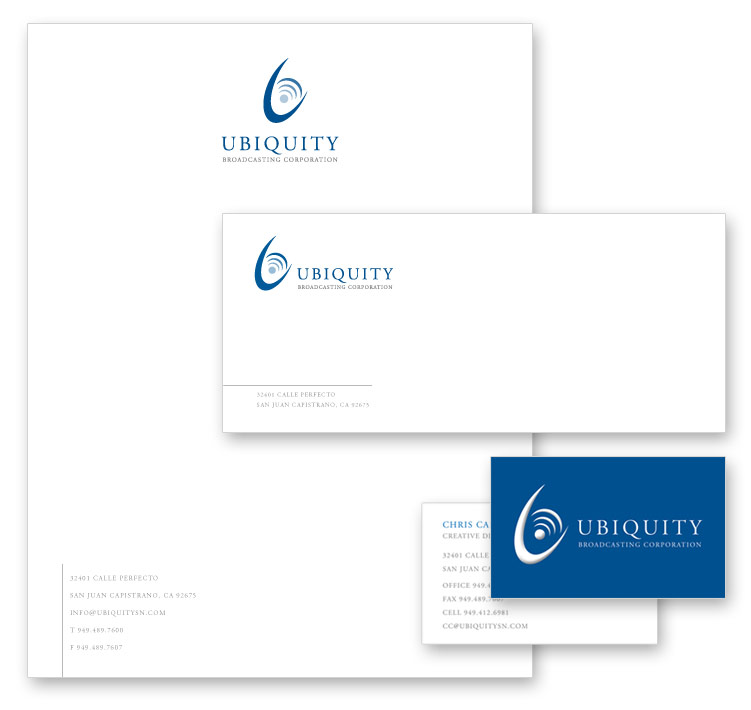 Ubiquity Branding Package - OnIt CreativeOnIt Creative - letterhead and envelope design