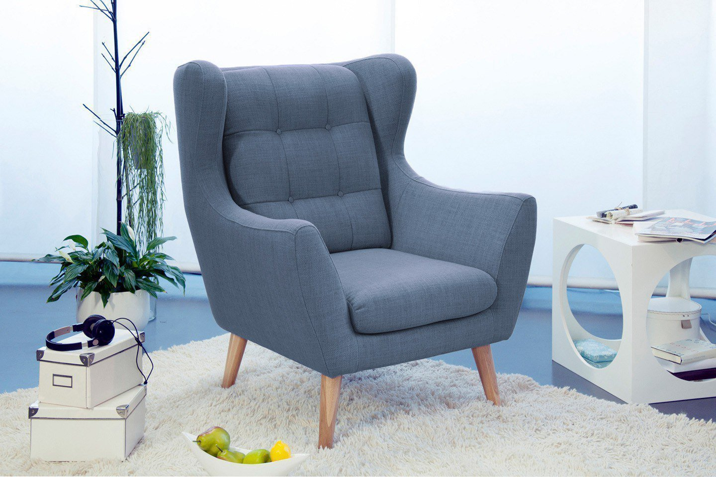 Sessel Hellblau Henry Von New Look Lounge Sessel Hellblau