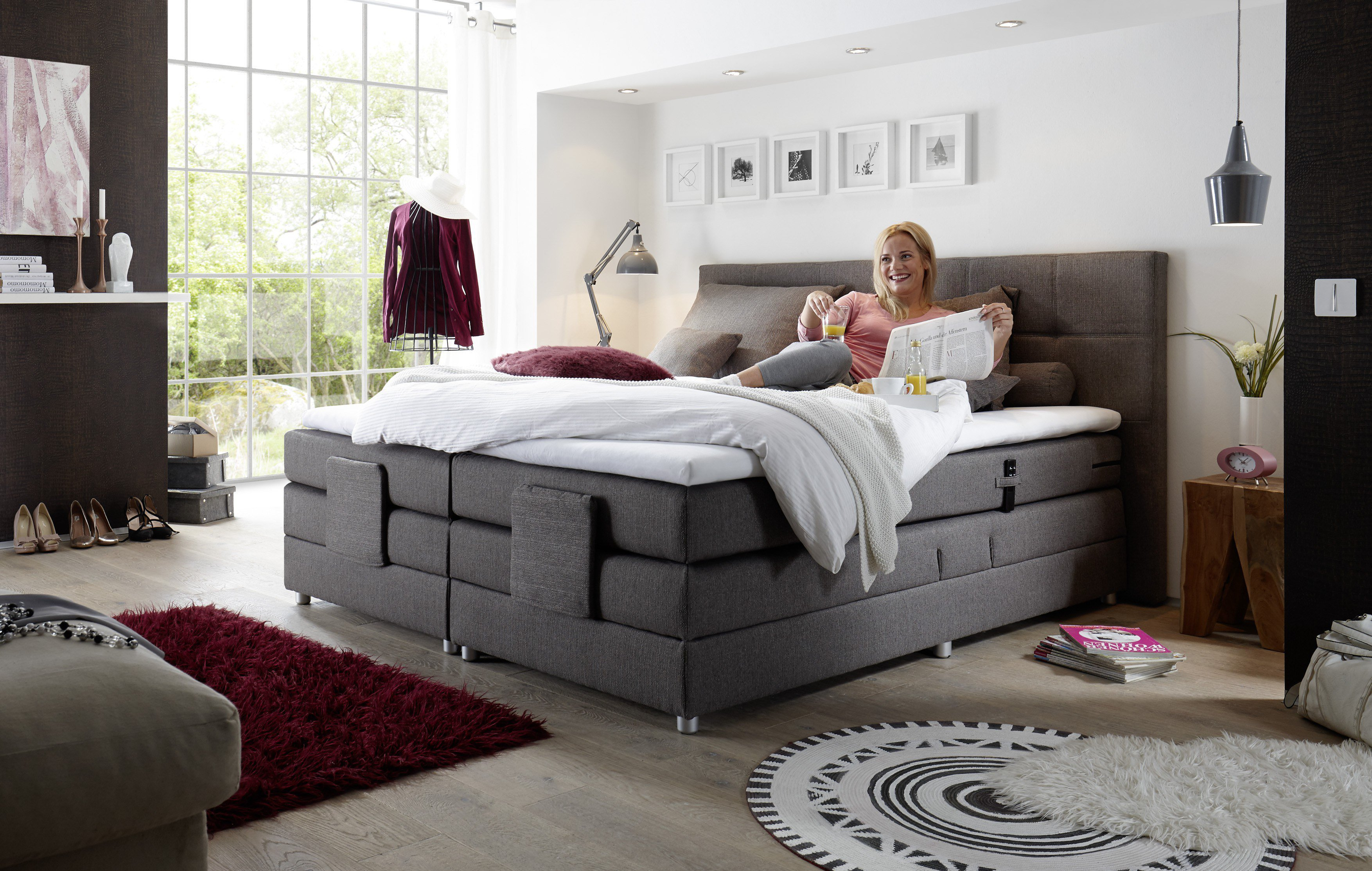 Boxspringbett Mit Motor Test Black Red White Boxspringbett Manolo / Juliann In Steingrau | Möbel Letz - Ihr Online-shop