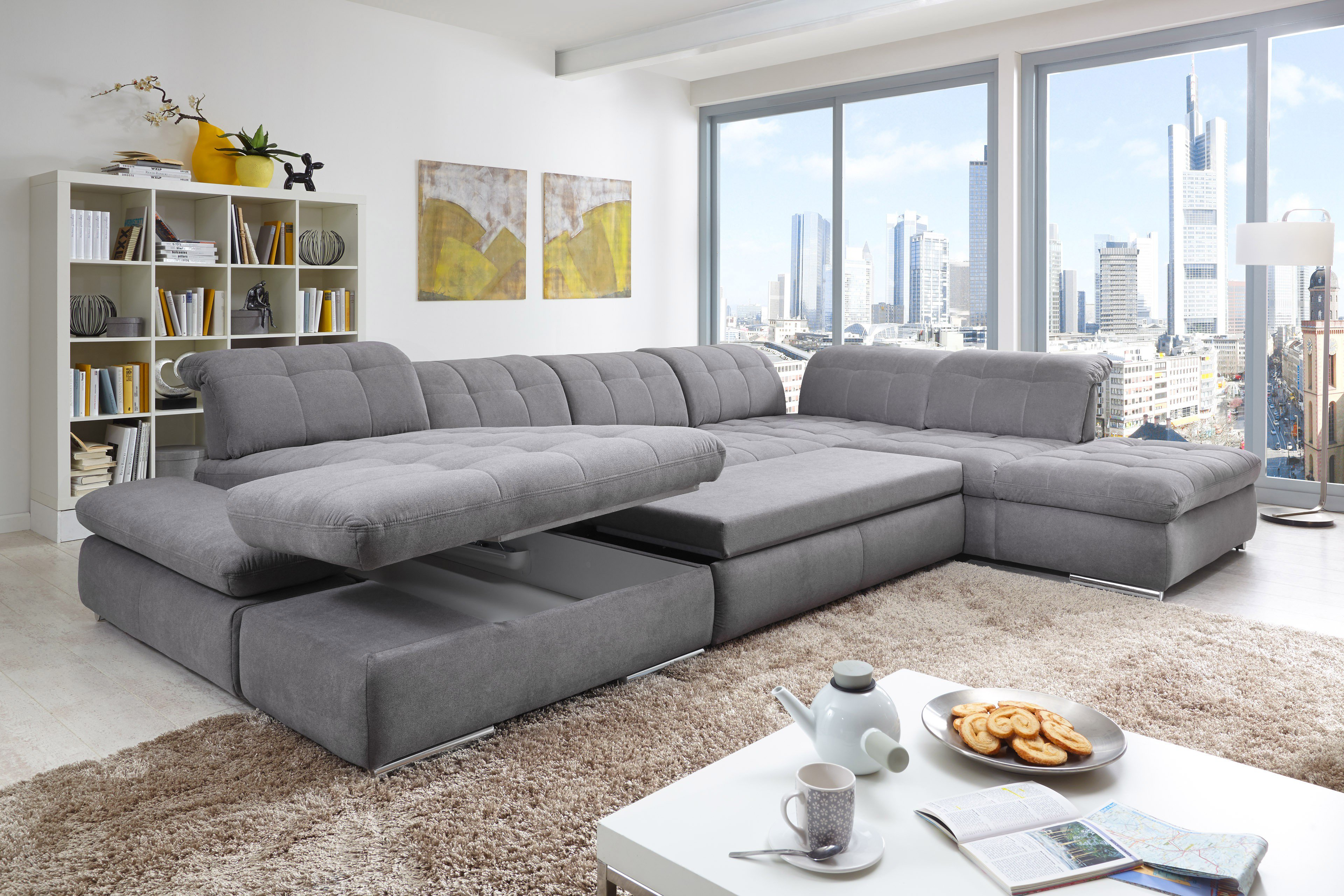 Poco Polstermöbel Houston U Förmiges Sofa In Grau Möbel Letz Ihr Online Shop
