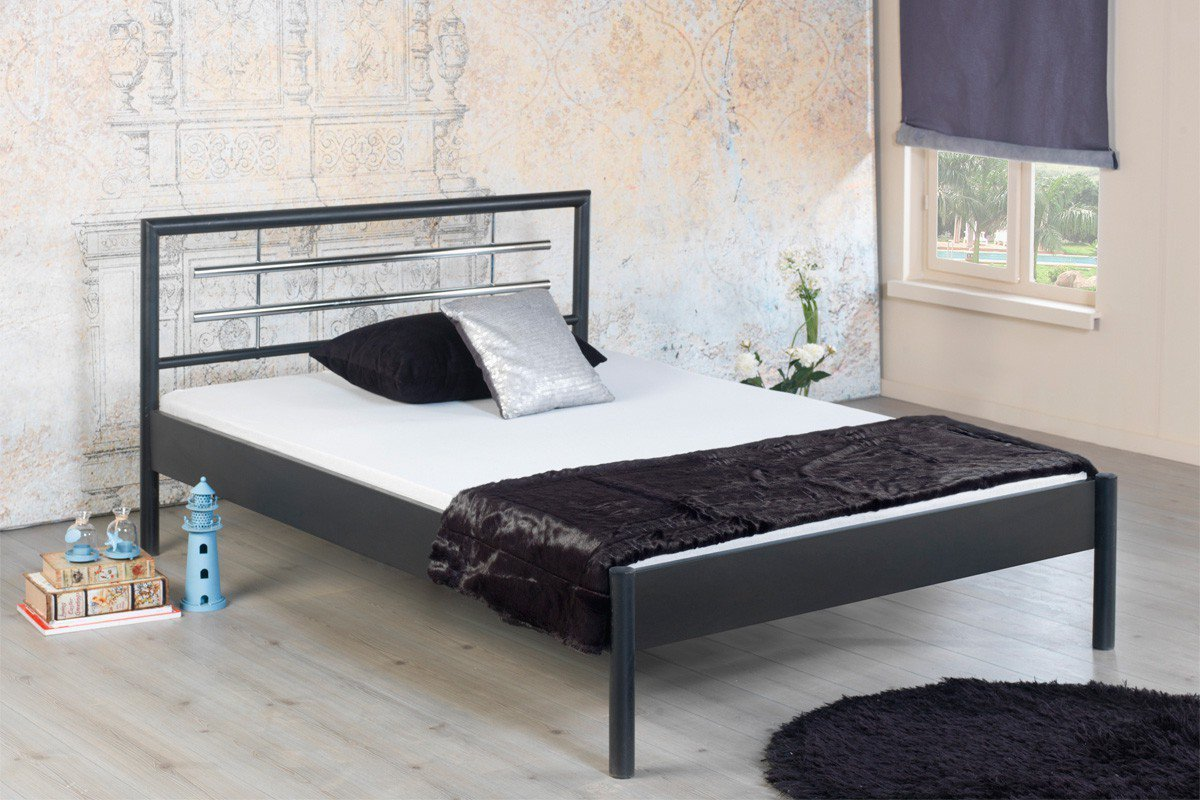 Bed Box Molly 1031 Bett Grau Metall 90 X 200 Cm Möbel Letz Ihr Online Shop