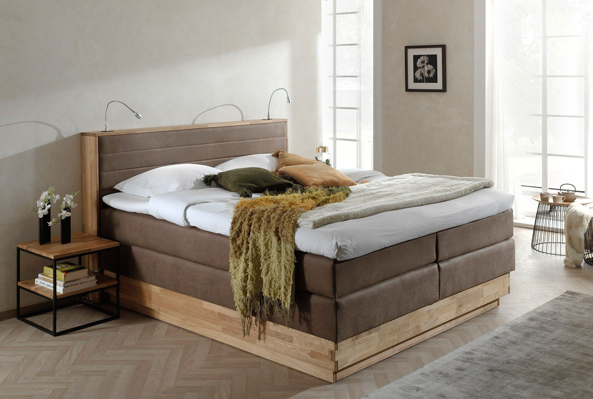 Boxspringbett 200x200 Mit Bettkasten Moneta Von Cotta Boxspringbett Brown Mit Bettkasten