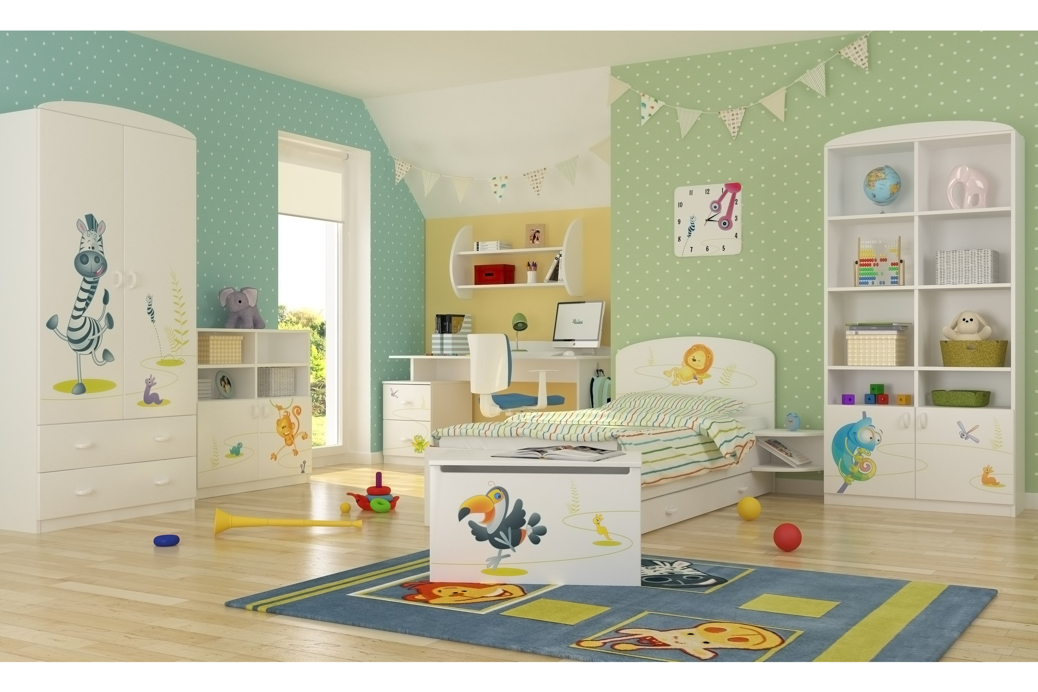 Meblik Happy Animals White Kinderzimmer Set Möbel Letz Ihr Online Shop