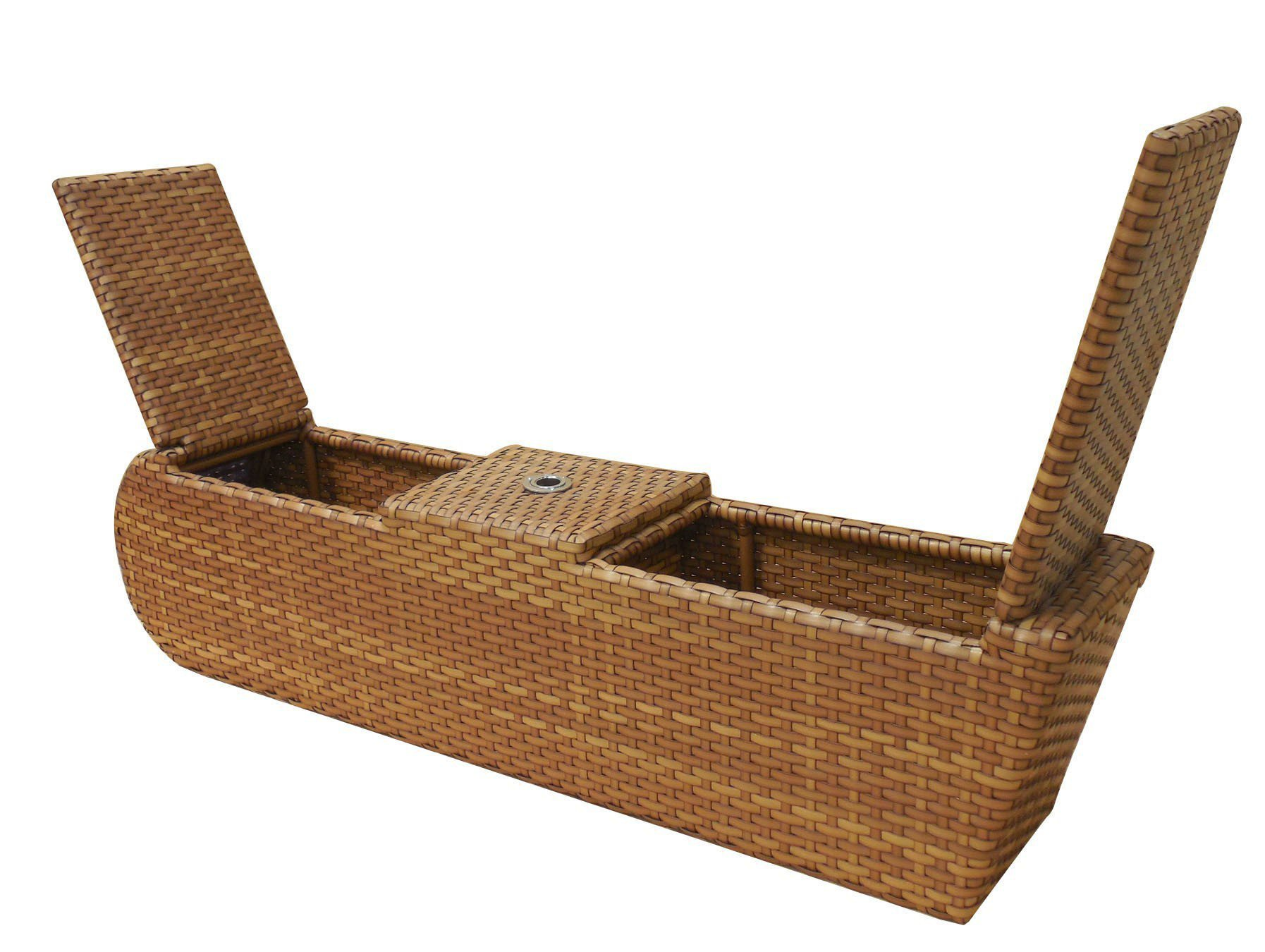 Relax Doppelliege Mbm Living Doppelliege Relax Lounge Geflecht Tobacco