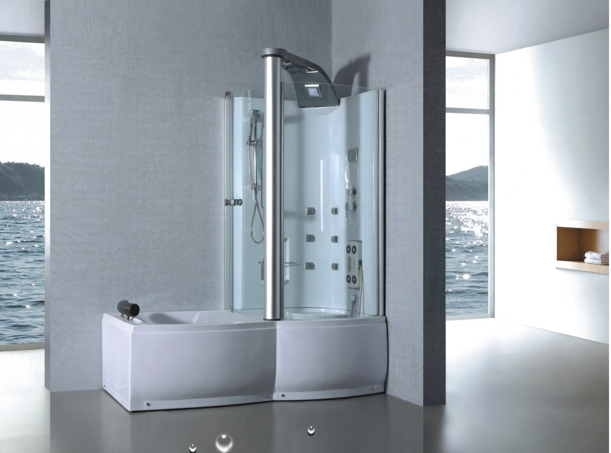 Douchecabine Met Douchebak Sanifun Douche Badcombinatie Milan 1750 X 900 Is Een Alles In één