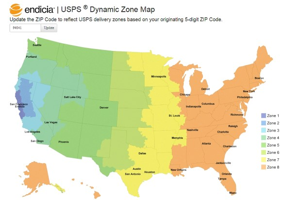 Endicia\u0027s Dynamic Zone Map Takes the Guesswork Out of Delivery Zones
