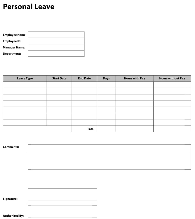 leave of absence request form - Jolivibramusic - Leave Templates