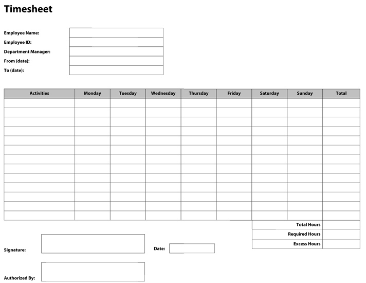 construction timesheet template excel - Intoanysearch
