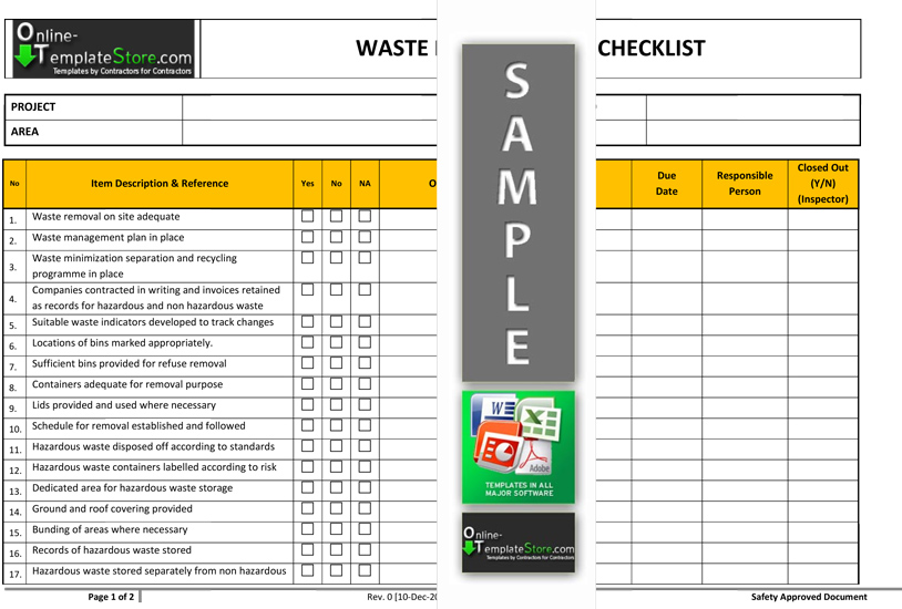 health and safety audit template - sample safety manual template