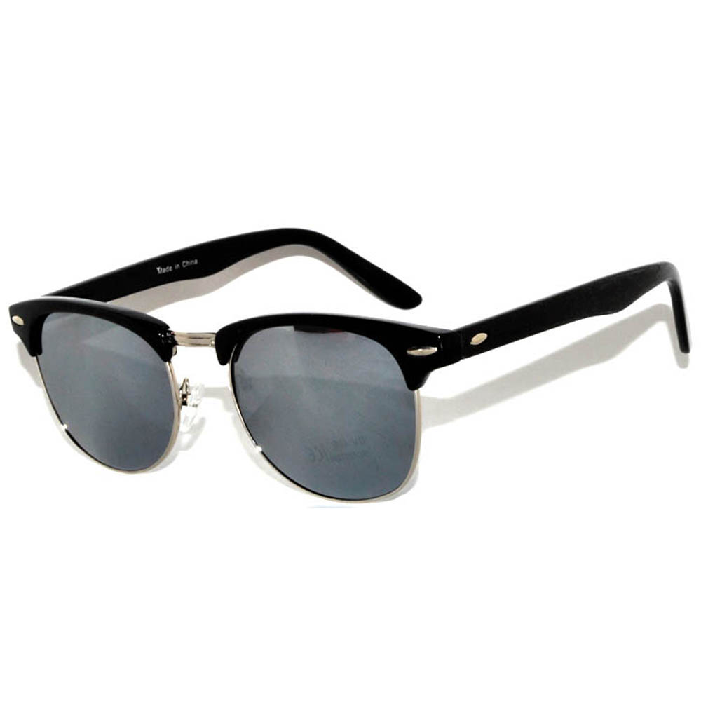 Mirror Frame Glasses Owl Eyewear Wholesale Half Frame Mirror Black Silver 12 Pcs