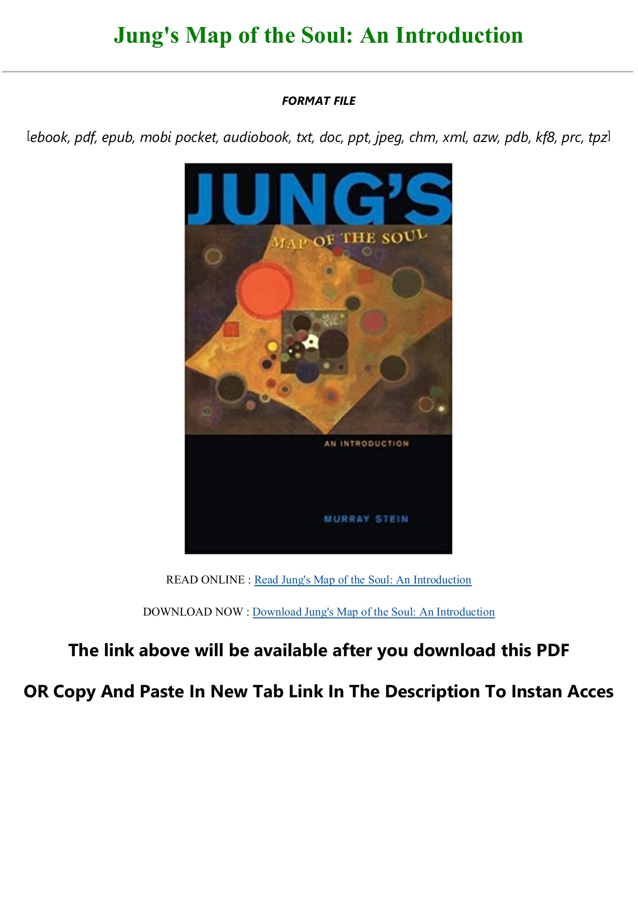 Unlimited Ebook Jung S Map Of The Soul An Introduction Full Pdf Online