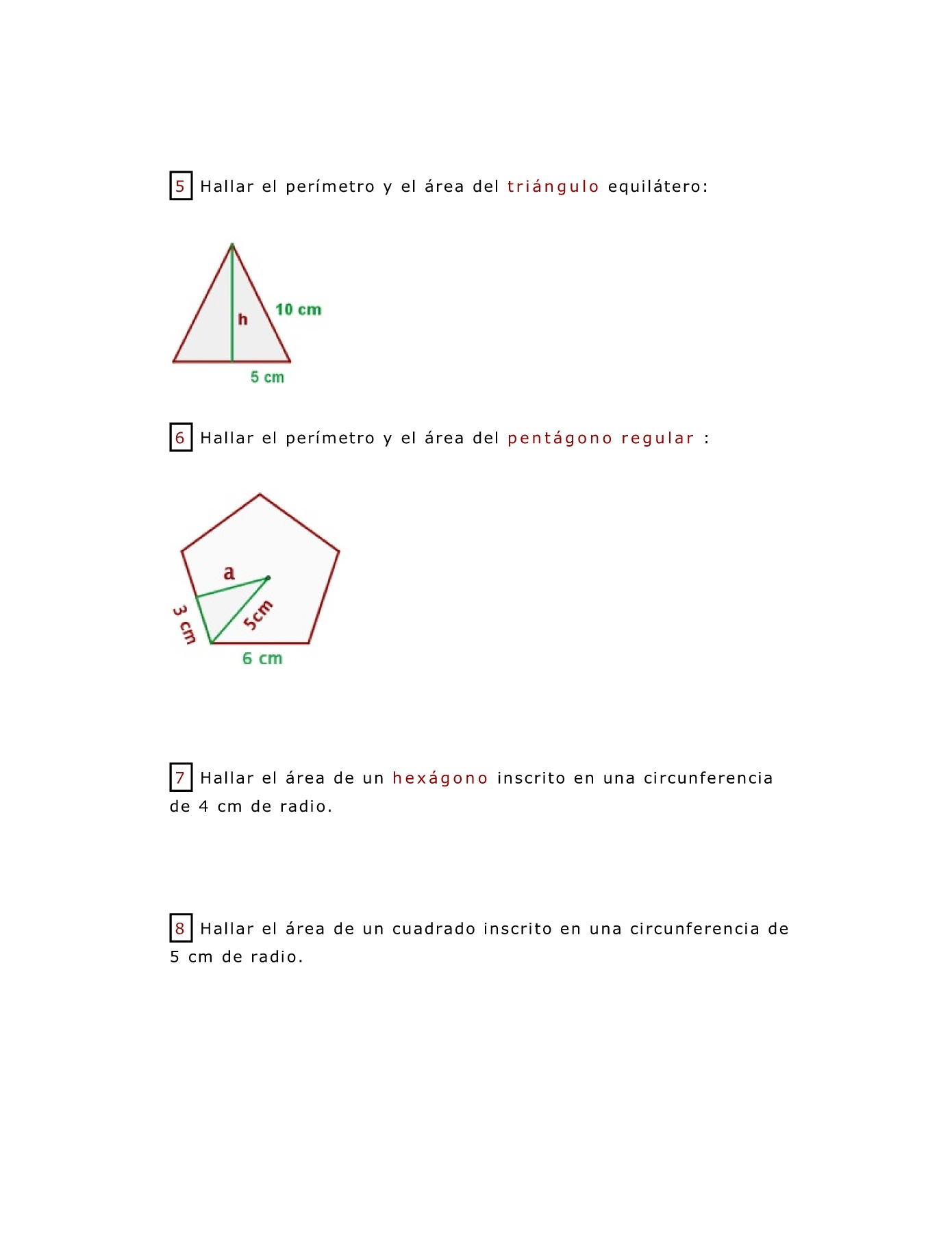 El Area De Un Cuadrado Problemario De Geometria Pages 1 3 Text Version Anyflip