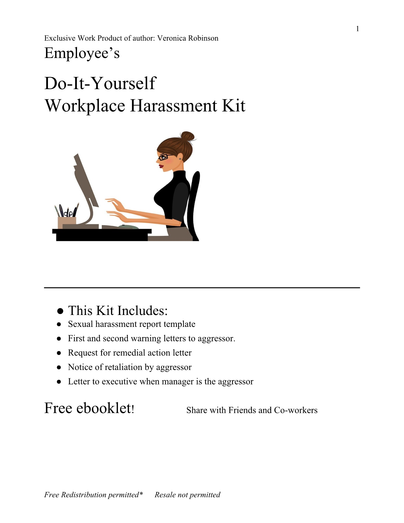 Employees Warning Letter  Sexual Harassment Toolkit Pages 1 - 12