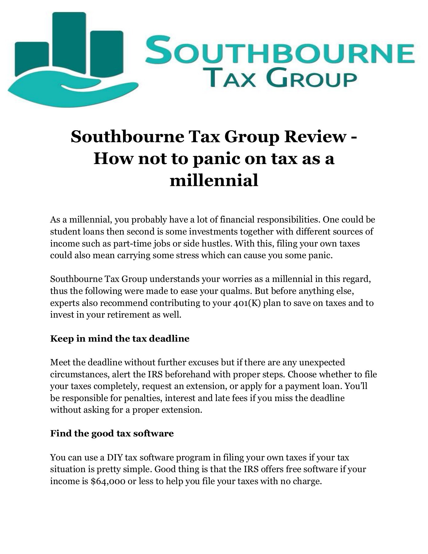 Diy Free Tax Review Southbourne Tax Group Review How Not To Panic On Tax As A