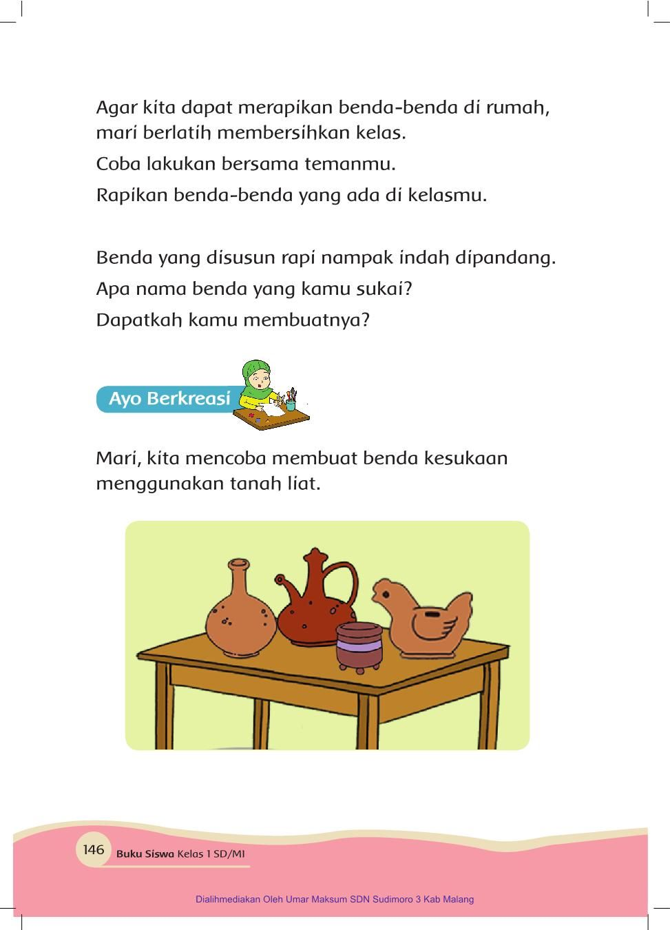 Benda Di Rumah Kelas I Tema 7 Buku Siswa Pages 151 200 Text Version Fliphtml5