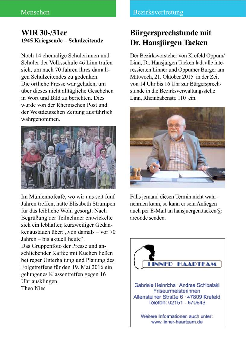 Küchen Aktuell Krefeld Oppum Buergerpost September2015 Pages 51 64 Text Version
