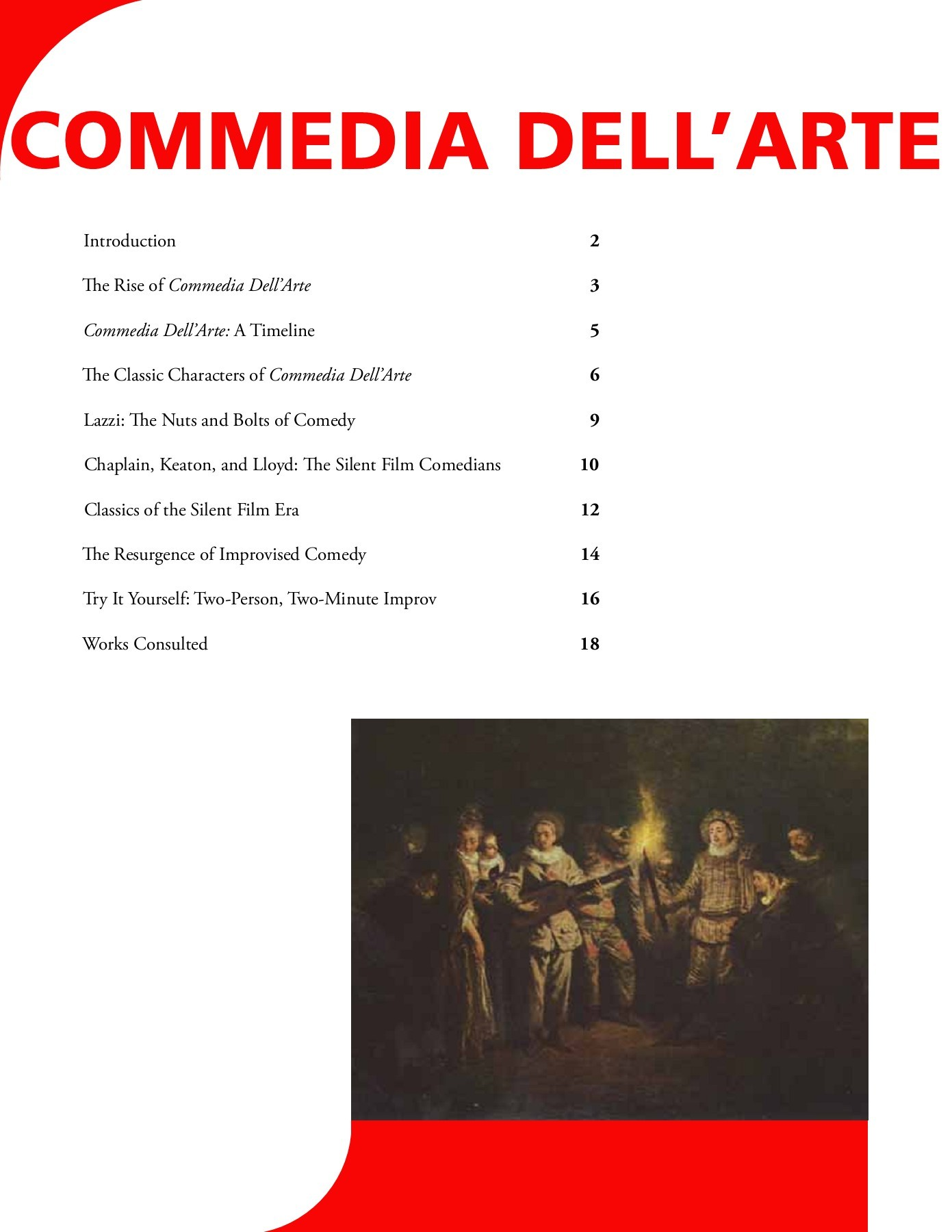 Commedia Dell'arte Word Meaning Commedia Dell Arte The Human Race Theatre Company Pages 1 19