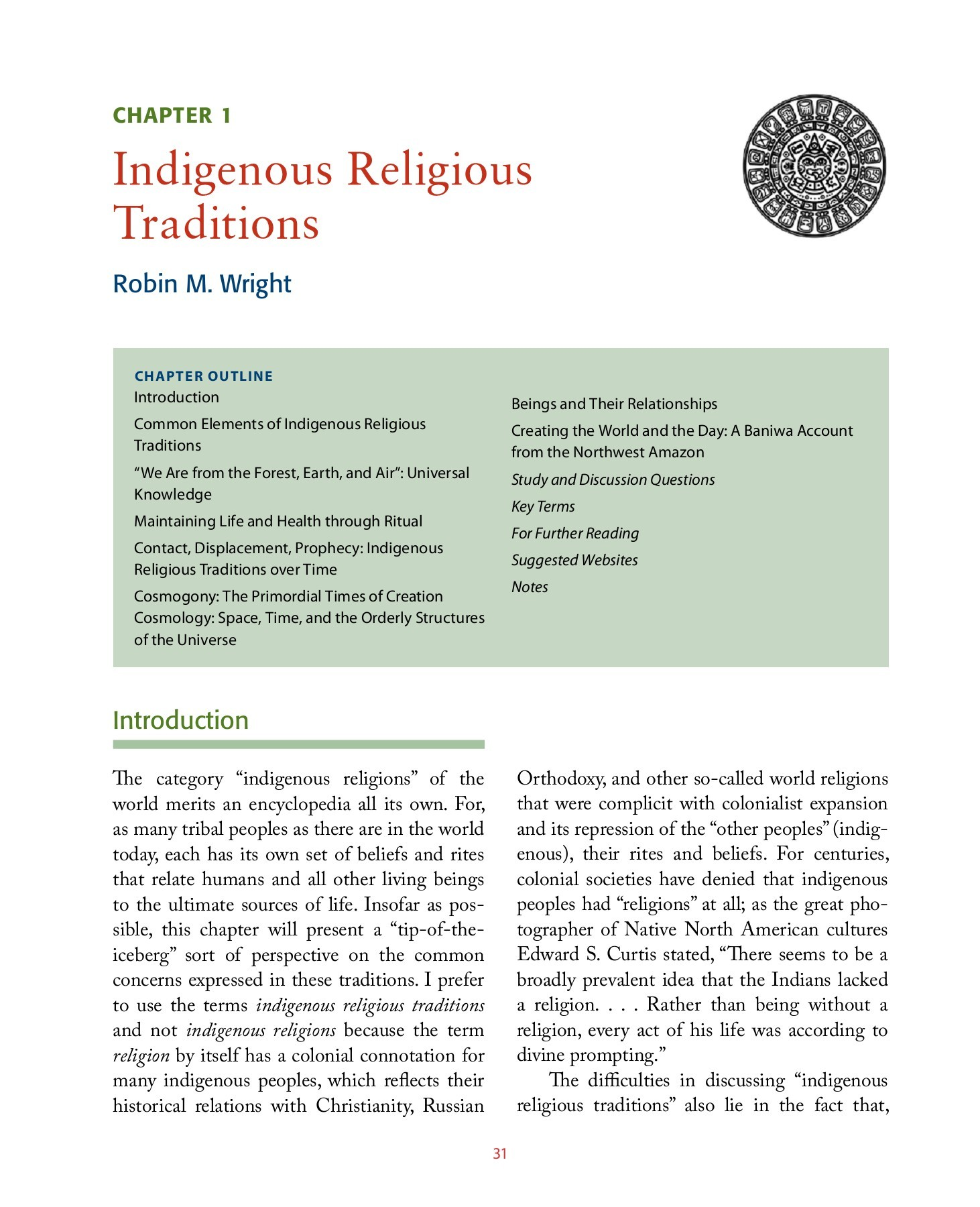 Elements Augsburg Chapter 1 Indigenous Religious Traditions Augsburg Fortress
