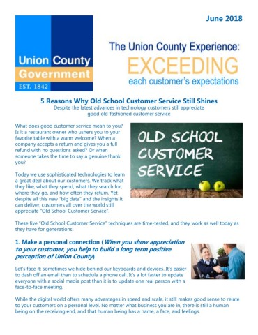 082018 Customer Service Newsletter Pages 1 - 3 - Text Version