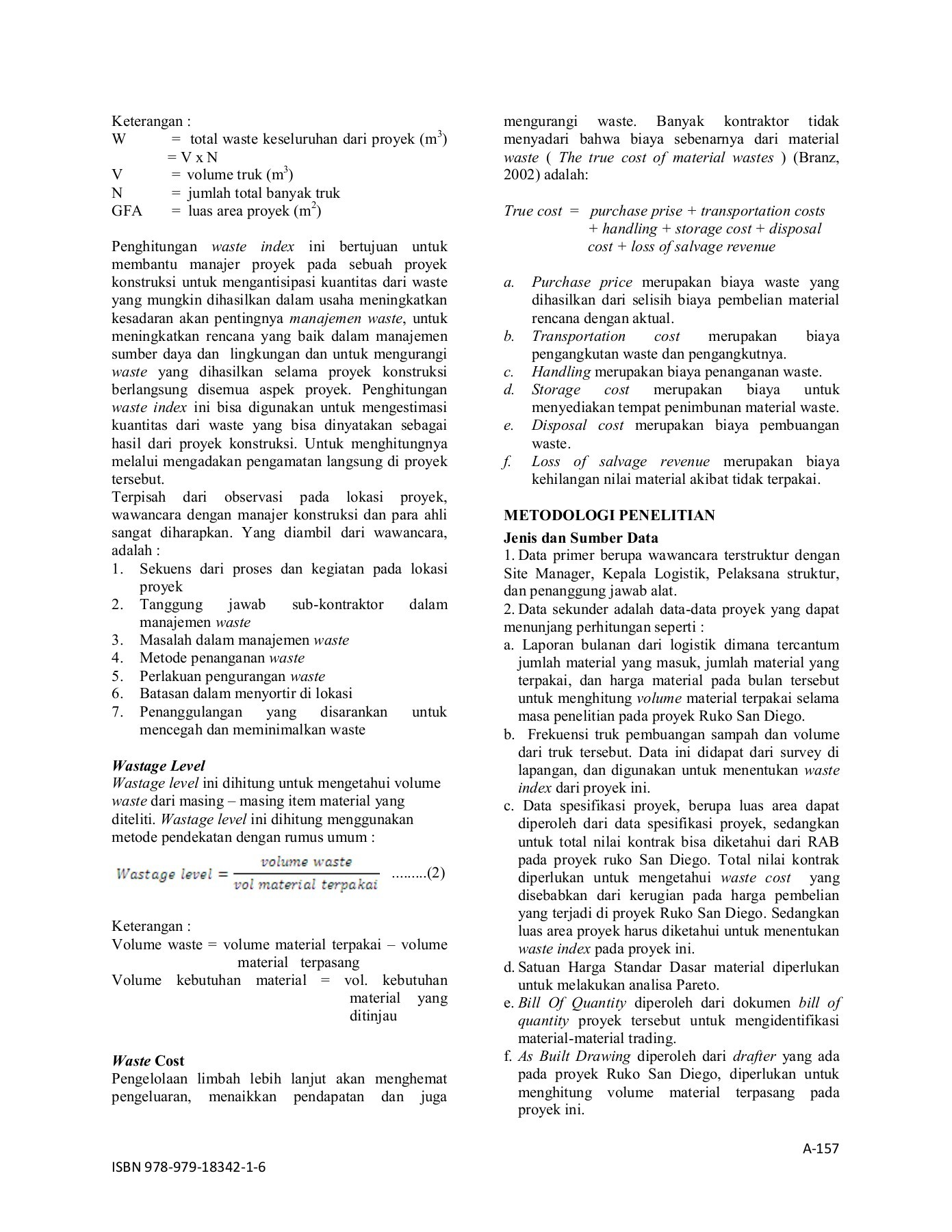 Rumus Biaya Identifikasi Material Waste Pages 1 6 Text Version Fliphtml5