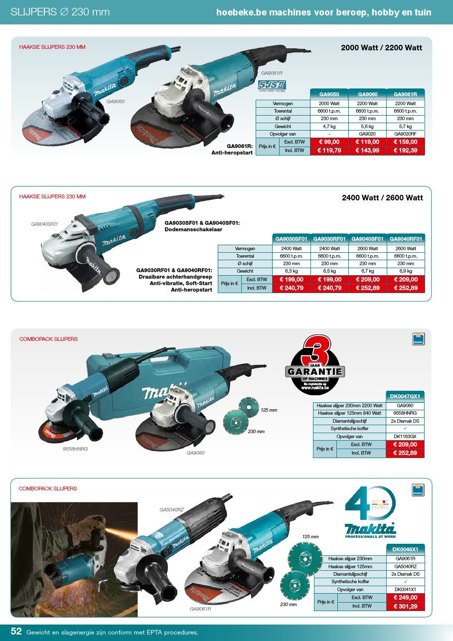 Makita Vlakschuurmachine Bo4565k Makita Promotiefolder 2017 By Hoebeke Be Pages 51 84 Text
