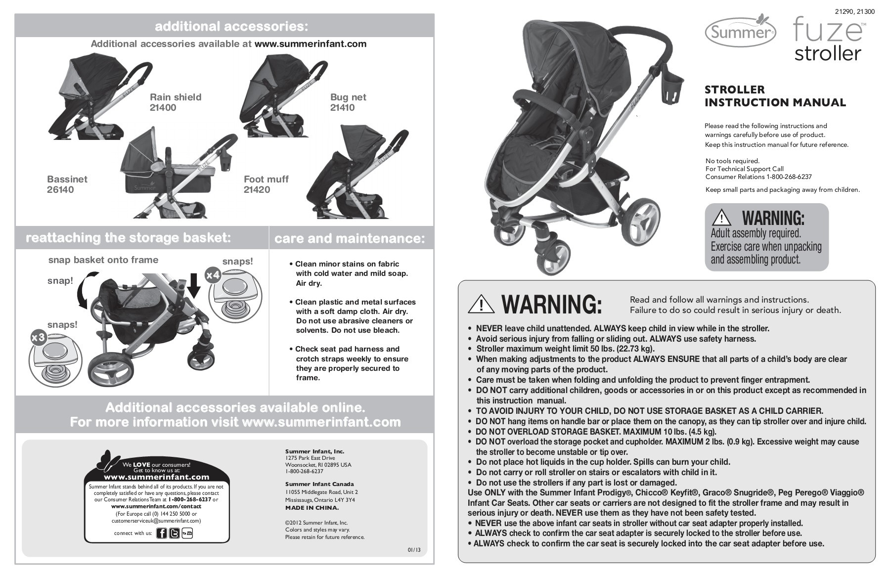 Graco Infant Car Seat Stroller Instructions Additional Accessories Fuze Summer Infant Pages 1 14
