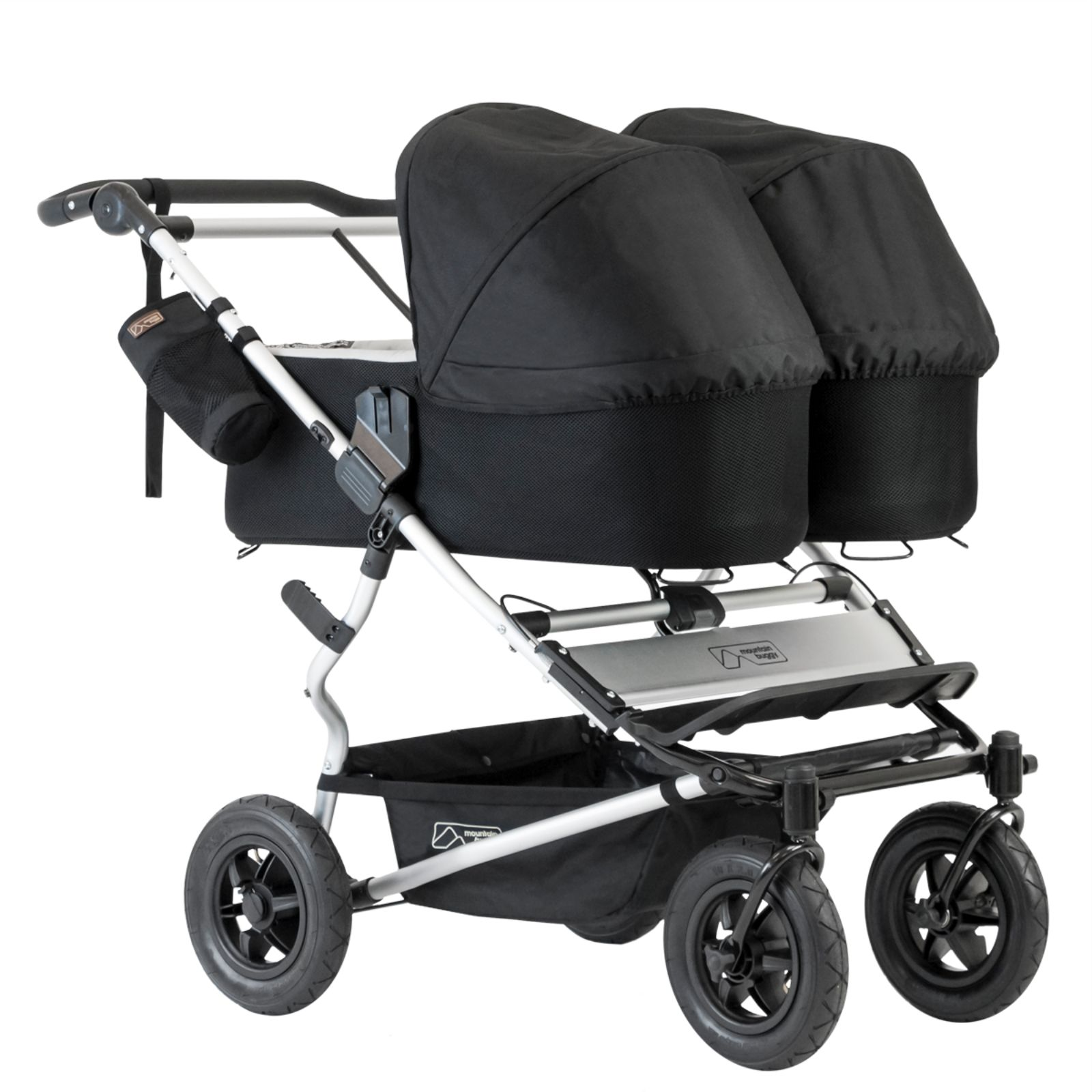 Luxury Double Pushchair Mountain Buggy Duet V3 Double Travel System 2 Carrycots