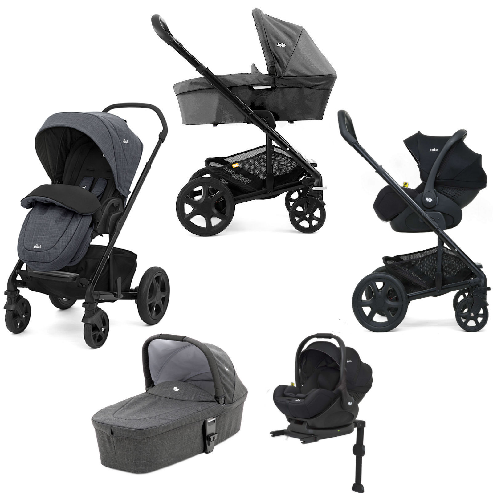 Joie Buggy Chrome Test Joie Chrome Dlx I Level Travel System With Carrycot Inc