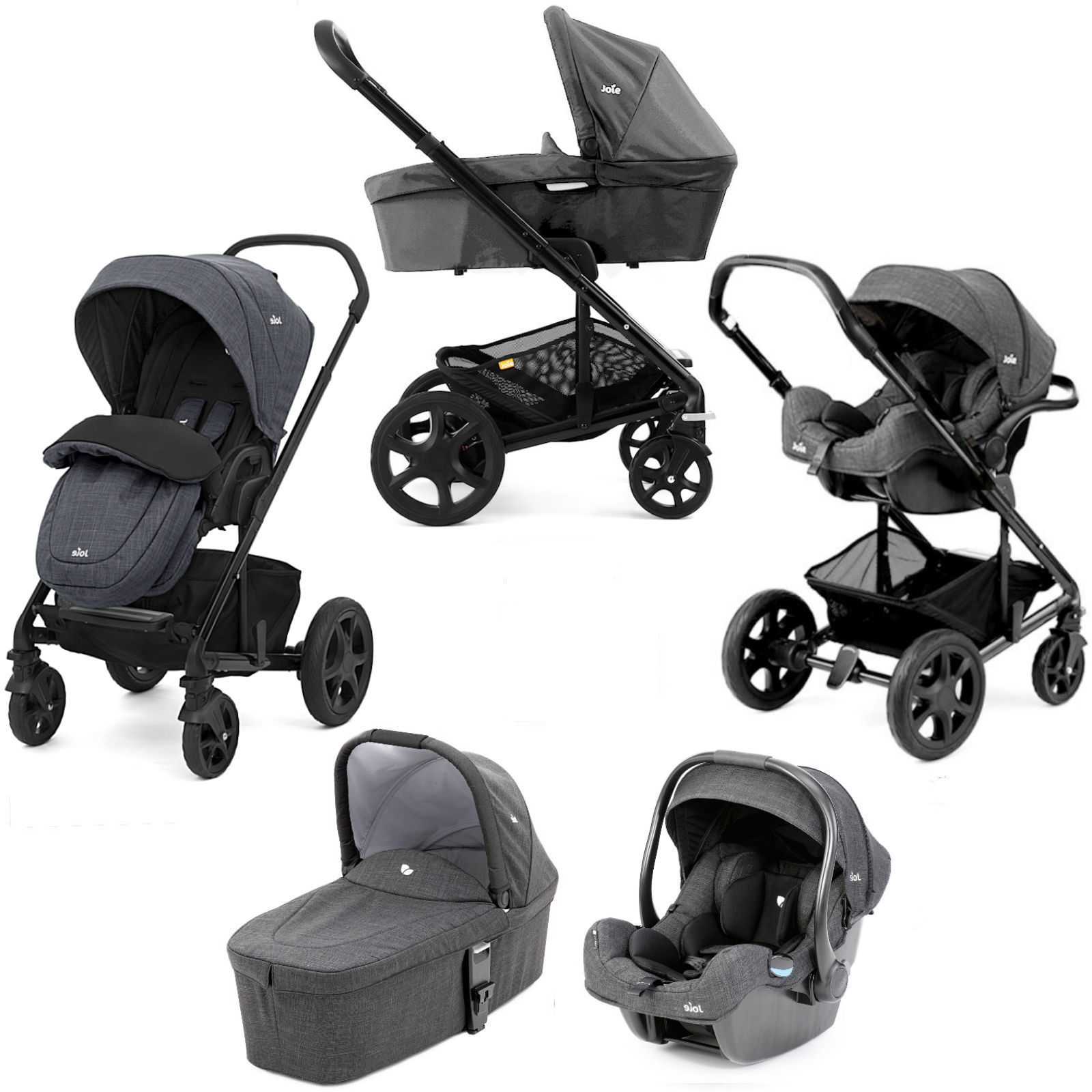 Travel System Joie Chrome Joie Chrome Dlx I Gemm Travel System Carrycot Inc Footmuff Pavement