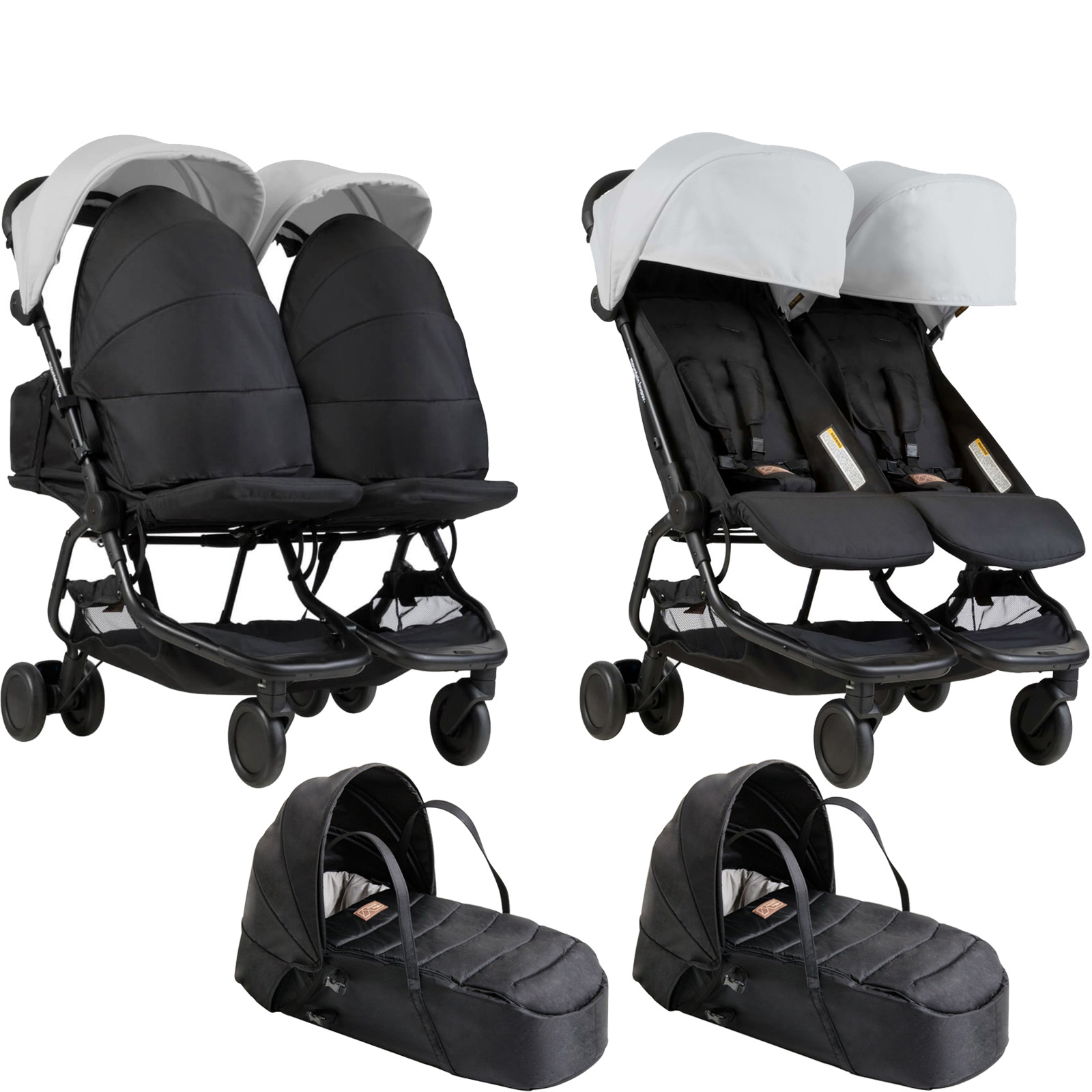 Mountain Buggy Car Seat Installation Mountain Buggy Nano Duo Twin Pushchair X2 Cocoon Carrycots