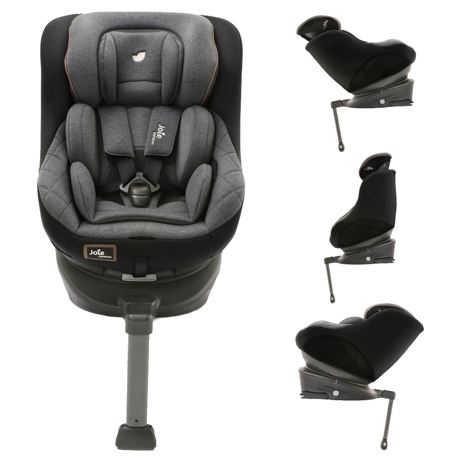 Joie 360 Isofix Installation Joie Limited Edition Spin 360 Group 1 Isofix Car Seat Signature Noir