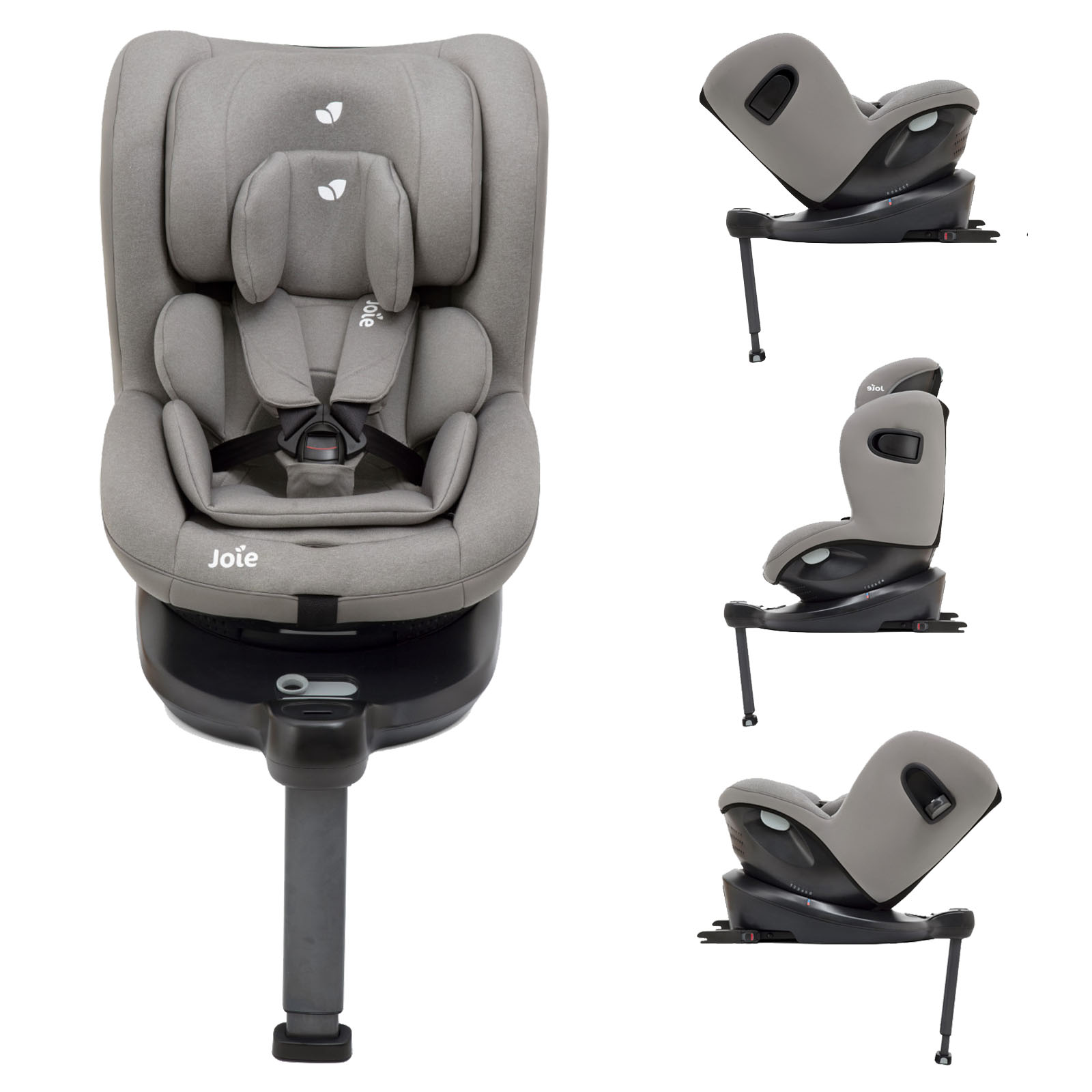 Joie 360 Isofix Installation Joie I Spin 360 Isize Group 1 Car Seat Grey Flannel