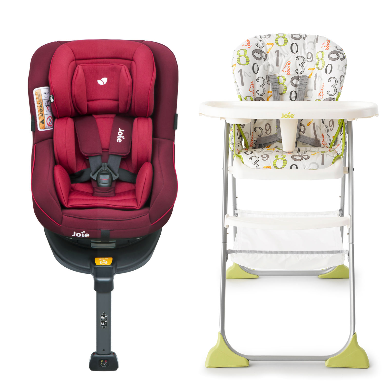 Joie 360 Isofix Installation Joie Spin 360 Group 1 Isofix Car Seat With Mimzy Snacker Highchair Bundle Merlot 123