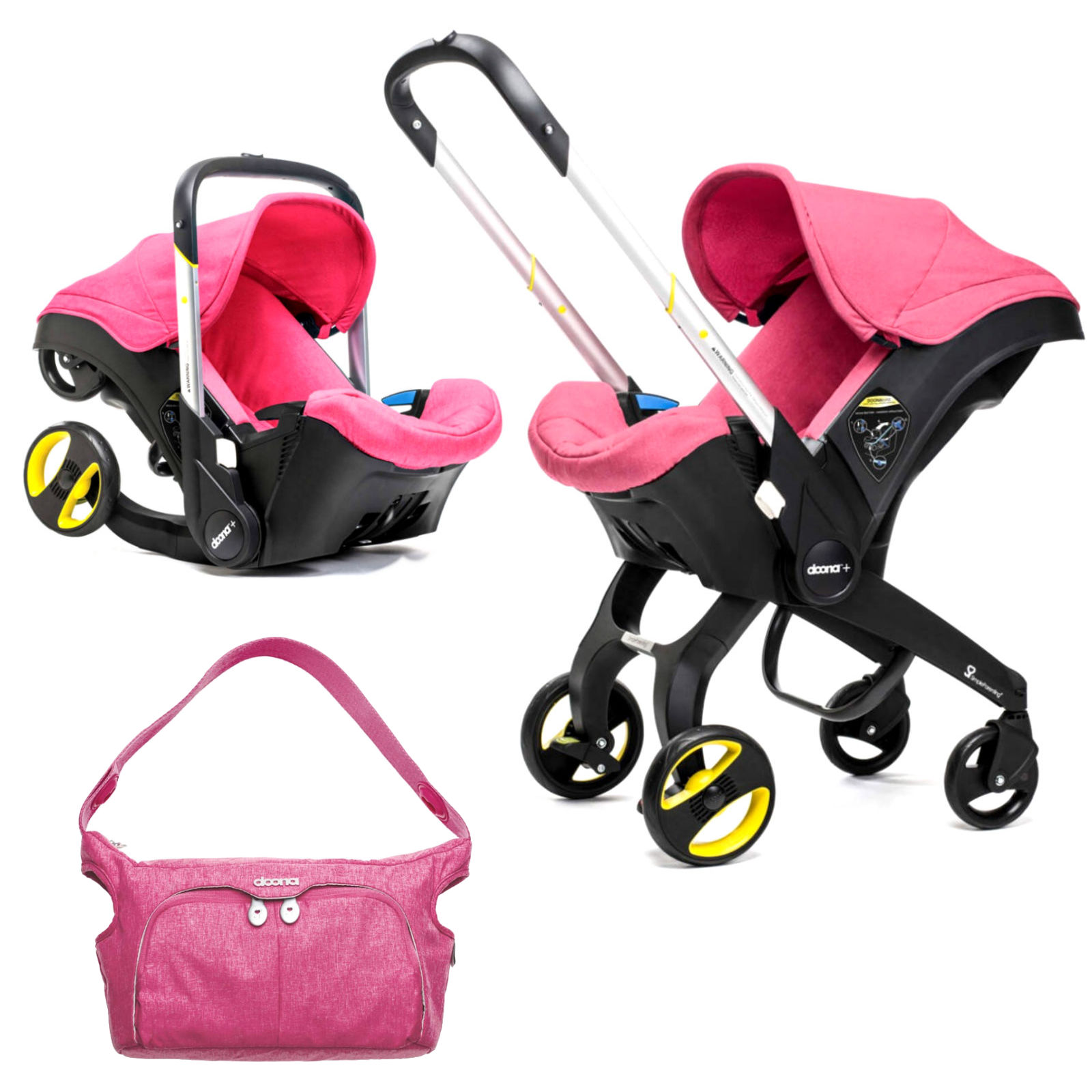 Infant Seat Vs Safety Seat Doona Infant Car Seat Stroller With Changing Bag Sweet Pink