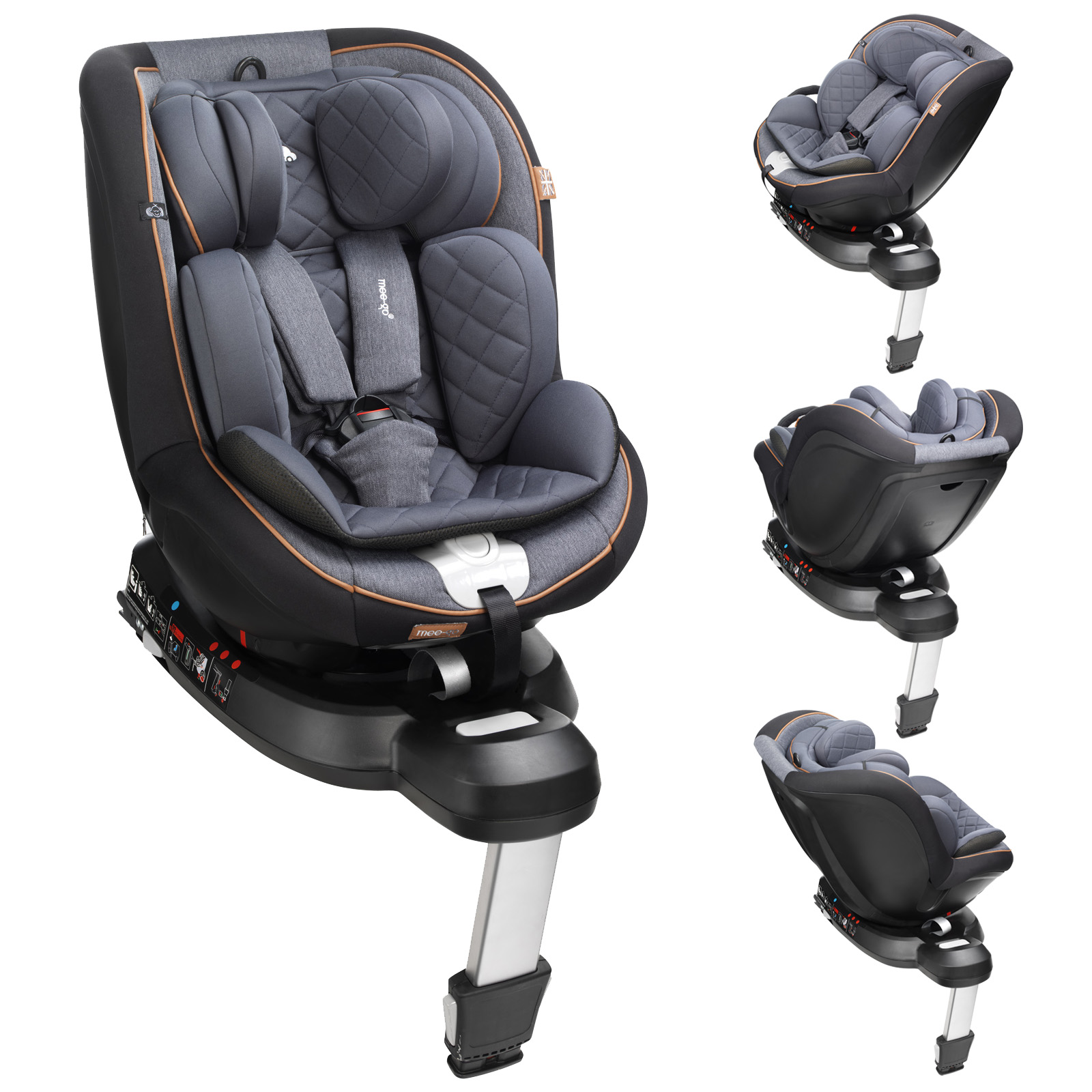Is Joie 360 Isofix Only Mee Go Swirl I Size Group 1 360 Spin Car Seat Black