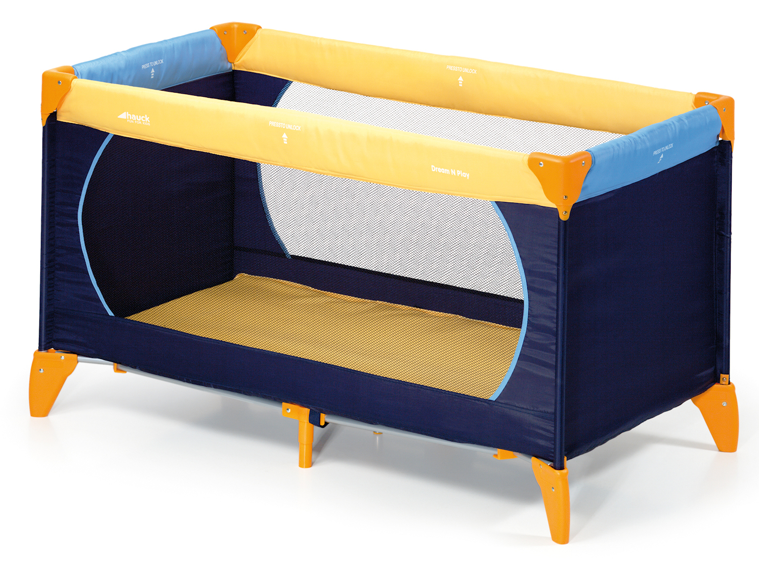 Baby Playpen How Hauck Deluxe Dream N Play Travel Cot Baby Playpen Blue Yellow