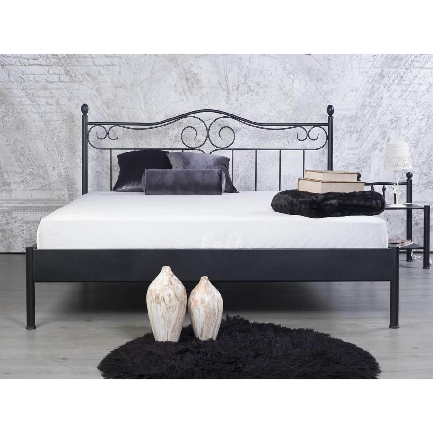 Bedbank Metaal Awesome With Wit Metalen Bed