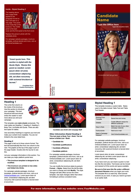 Political/Military Print Templates \u2013 Red and Blue Theme Online - political brochure