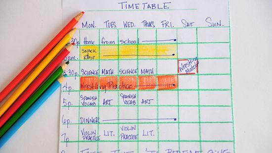 Study Timetables II of III OnlineGrindsie Blog - study timetable