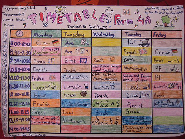 Study Timetables III of III OnlineGrindsie Blog