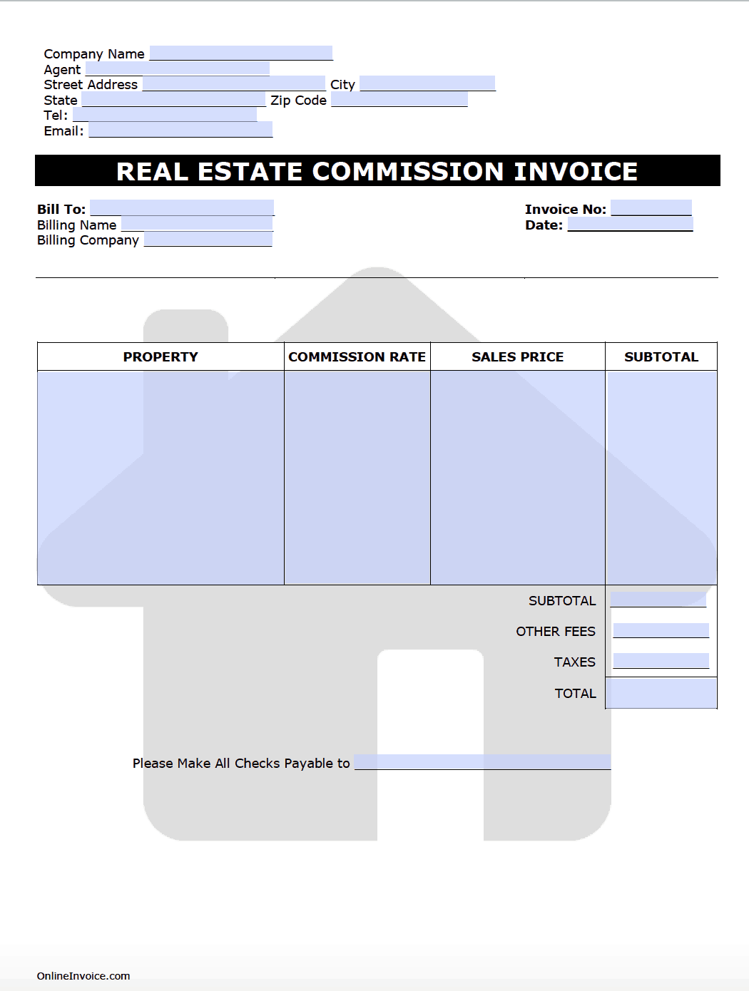 individual invoice template