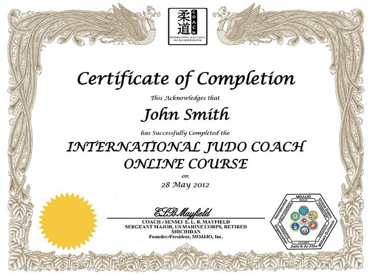 MOJJJO International Judo Coach Certification