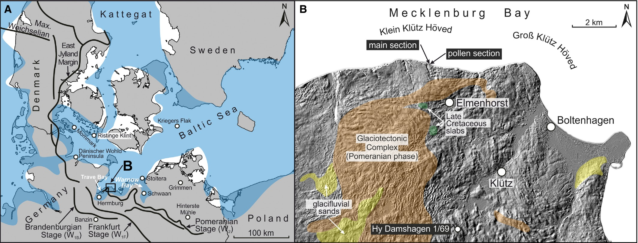 A Multi Proxy Palaeoenvironmental And Geochronological Reconstruction Of The Saalian Eemian Weichselian Succession At Klein Klütz Höved Ne Germany Kenzler 2018 Boreas Wiley Online Library