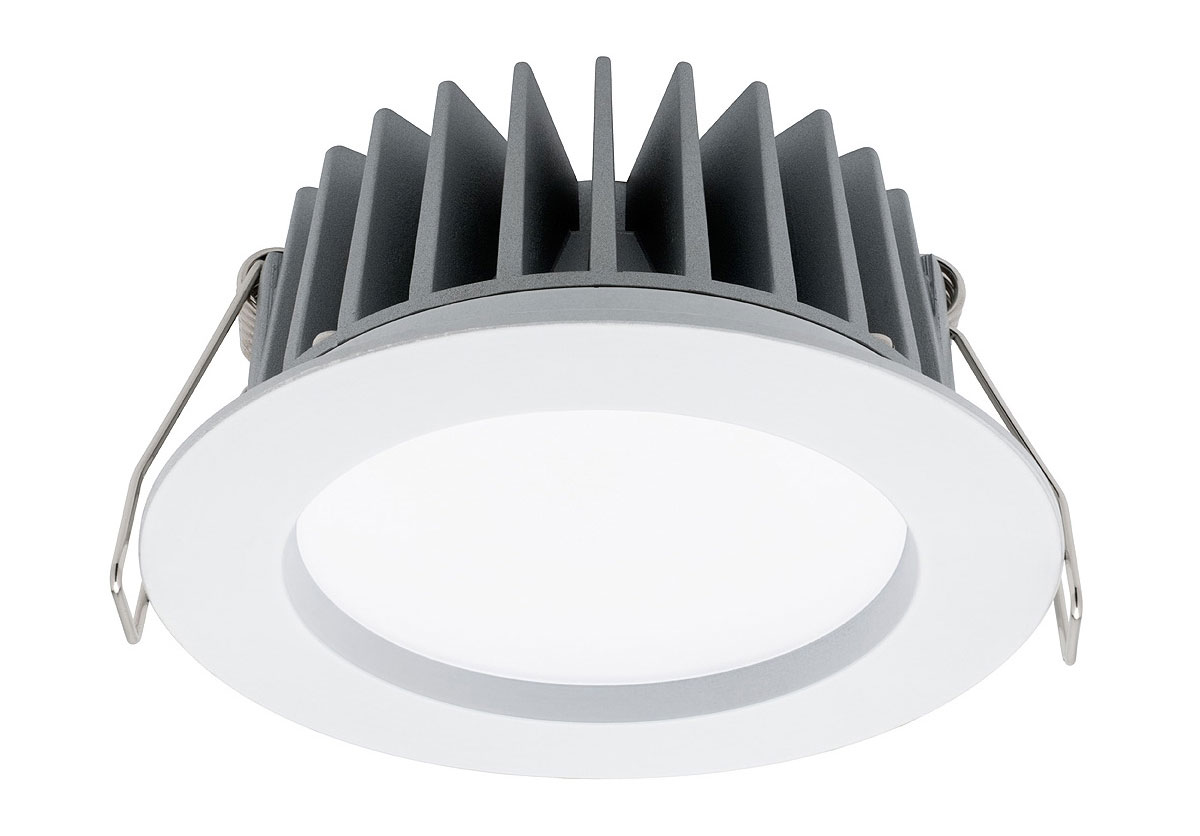 Led Downlights Au Optica Trio 10w Led Ip44 Downlight White Frame Md490w Sw
